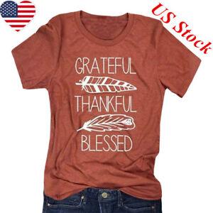 Thankful-Grateful-Blessed-Feather-Print-T-Shirt-Thanksgiving-Women-Tee-Top-f-mi