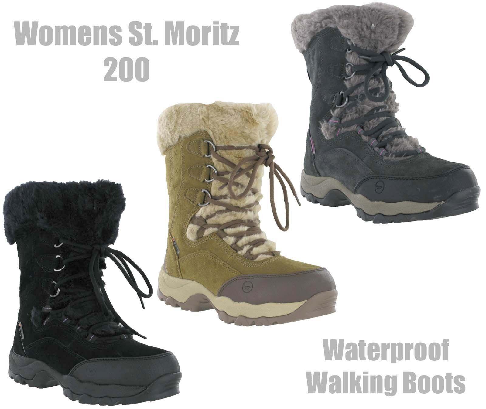 Hi-Tec st Moritz II Wasserfest Damen Winter Thermo Warm Schnee Pelz Stiefel