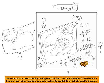 Chevrolet GM OEM 12-16 Sonic Front Door-Window Switch 95188244