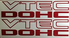"i-VTEC DOHC (2 PACK) 9"" RED emblem Vinyl Sticker Honda Civic Decal Euro Drift"