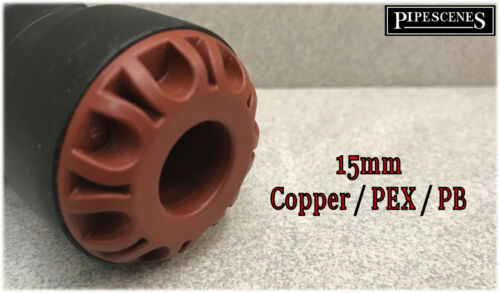 Pushfit Water Main 25mm Blue MDPE to 15mm Copper or Plastic Pipe Joiner Adaptor