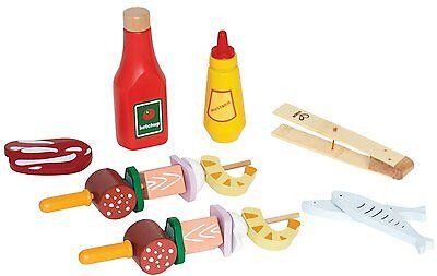 SPIEDINI E INGREDIENTI PER BARBECUE gioco di imitazione cucina legno età 3+ Hape
