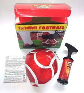 itm Mini Football Soccer Pringles Ball Size  With Pump for Collectors and Kids