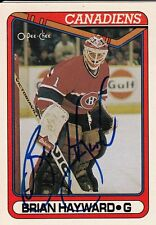 BRIAN HAYWARD Montreal Canadiens Autographed Signed Hockey O Pee Chee Card 23