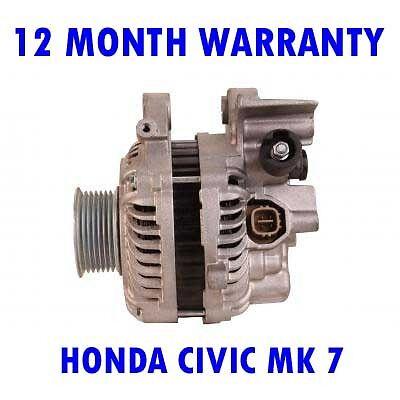 HONDA CIVIC MK 7 MK VII 1.8 2001 2002 2003 2004 2005 REMANUFACTURED ALTERNATOR
