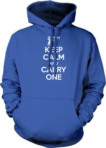 Keep Calm And Carry One Handgun Gun Firearm 2nd Amendment Rights Hoodie Pullover