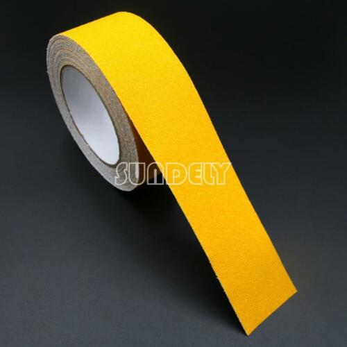 NEW Yellow 5cm Safety Grip Anti Slip Stair Tread Tape 10M Roll Self Adhesive