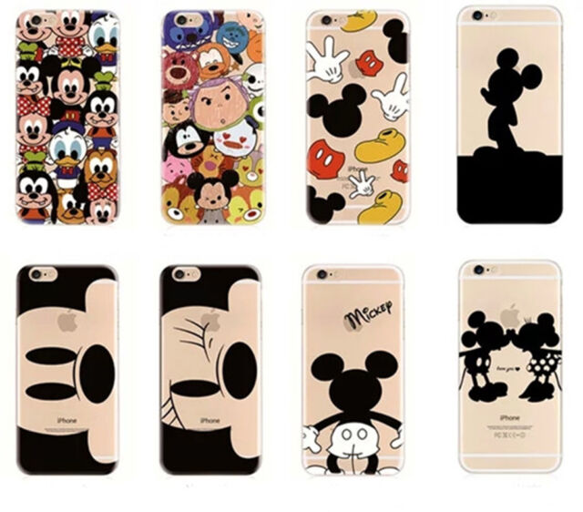 Cute Cartoon Protective Back Soft Case Cover For iphone 5 5S SE 6/6S Plus