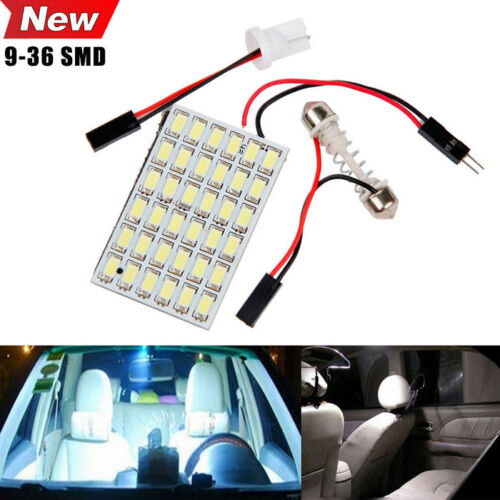 9/18/24/36 SMD 5630 LED T10 BA9S Dome Festoon Car Interior Light Panel Lamp 12V