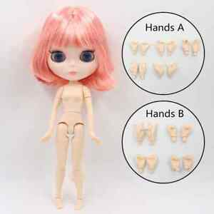 12 inch ICY Blythe Doll Nude Joint Body Green Short Hair Shiny Face 4 Eye Color