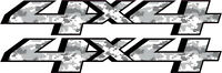 2014-2016 Aftermarket 4x4 Snow Camo Replacement Decals Sticker Set 4wd Chevy Gmc