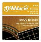 D'Addario EJ14 Bluegrass 8020 Bronze Acoustic Guitar Strings, .012-.056