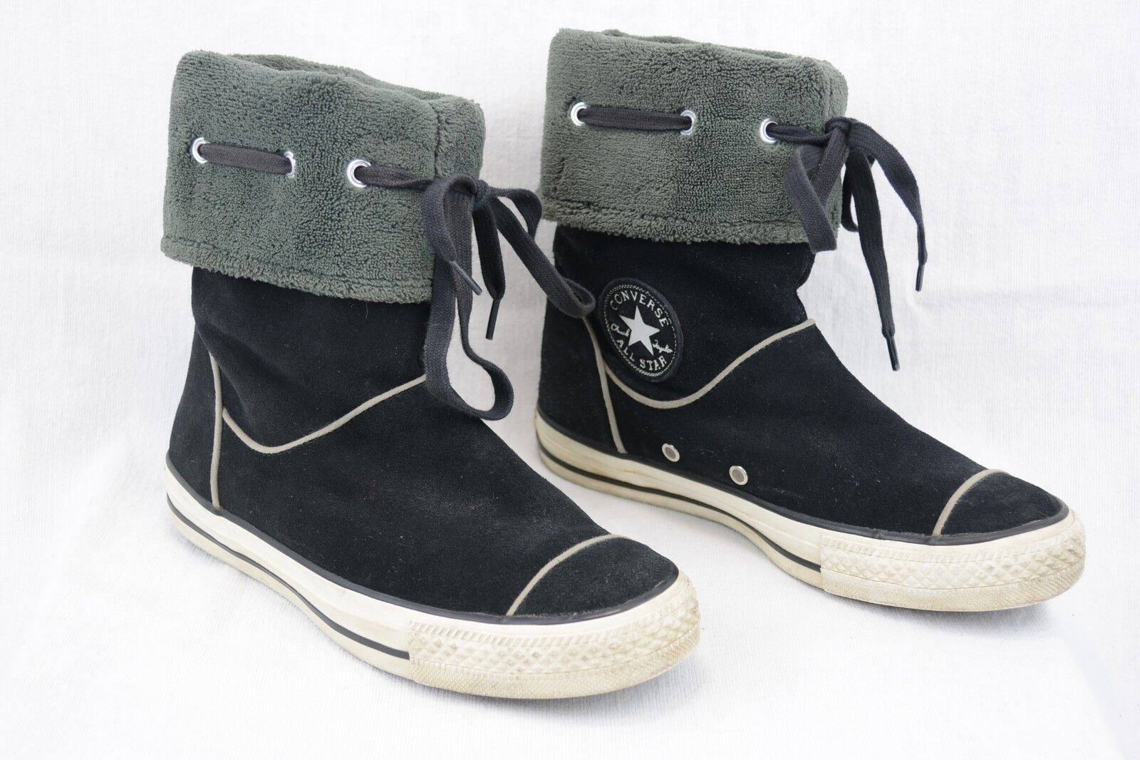 Converse CT All Star Womens 7 Fleece Lined Pull On A8 Suede Ankle Boots Black A8 On 56cae8