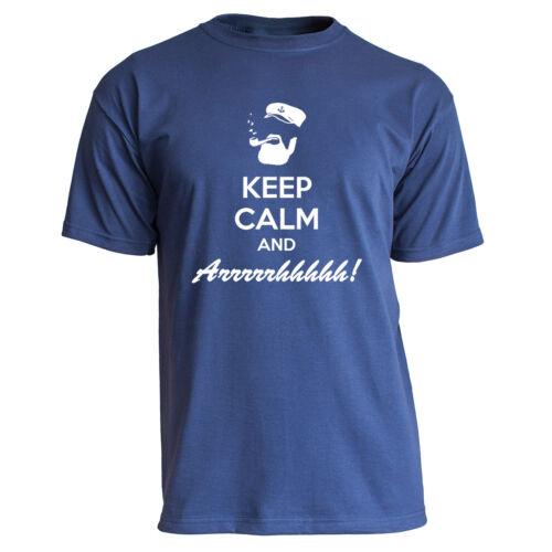 """Nukular T-Shirt /""""Keep Calm Arrhh/"""" Maritim Meer Norden Schiff Anker Ostsee"""