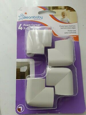 BNIP Perma Child Safety Pack of 4 Clear Silicone Large Corner Protectors 4cm