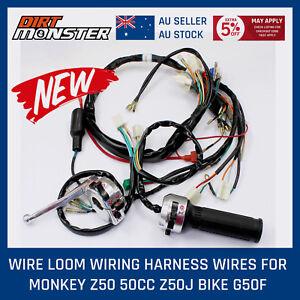 for honda z50 50cc monkey gorilla wiring harness assembly loom rh ebay com honda z50 k2 wiring harness Automotive Wiring Harness