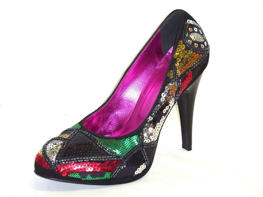 shoes women DECOLLETTE SEXY CON ZEPPA INTERNA PAILLETTES E TACCO ALTO 35