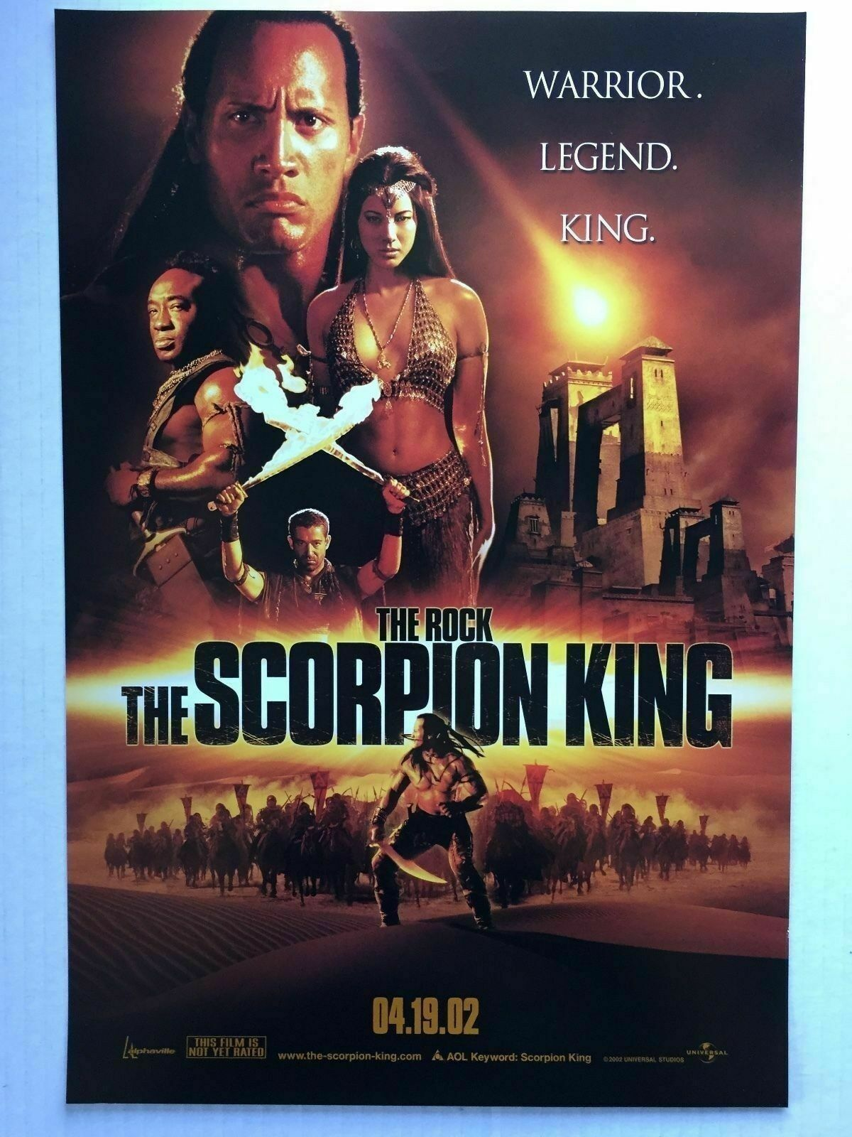 238551 THE SCORPION König MOVIE DWAYNE JOHNSON Wand Drucken POSTER CA