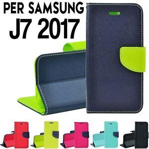 custodia a portafoglio samsung j7