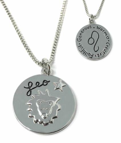 *UK Shop* Silver /'LEO/' Necklace Star Sign Zodiac Lion Warm Faithful 23//7-22//8