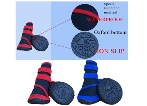 4 pc Pet Dog Shoes Puppy Cat Shoes Boots Waterproof Antislip Paw Protector socks