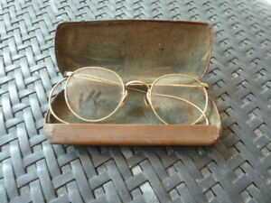 Antique-Art-Craft-Ful-Vue-1-10-12K-Gold-Filled-Wire-Spectacle-Eye-Glasses-w-case