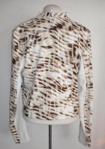 at Ivory gætte Ms Brown Størrelse Jakke Langærmet Ved Forreste G Print Åben Animal Large qxf5WgY4w