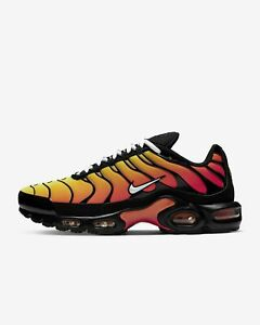 premium selection 70213 502a9 Details about NIKE AIR MAX PLUS OG TIGER 852630-040 BLACK WHITE PURE  PLATINUM HABANERO RED TN