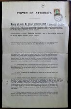 Malaya Power of Attorney document with Selangor $5.00 used 1954
