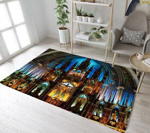 Paris-Retro-Church-Indoor-Scenic-Area-Rugs-Bedroom-Carpet-Living-Room-Floor-Mat