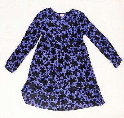 Blaues Whistles Seiden Empire Seidenkleid Kleid Blau ...