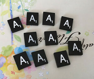 Individual Black  Scrabble Tiles Letters A to Z in Stock! Letter W 10 TEN
