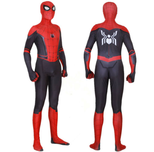 Spider Man Far From Home Peter Parker Cos Costume Spiderman Bodysuit Kids Adult
