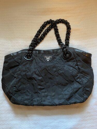 Prada Nylon Black Shoulder Bag
