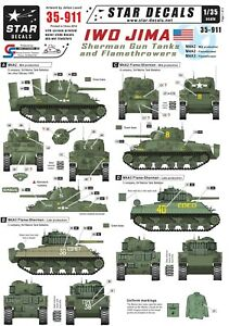 Star-Decals-1-35-Iwo-Jima-Sherman-Gun-and-Flamethrower-tanks-35911