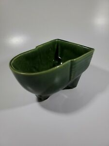 McCoy-Pottery-Green-Planter-Cart-Wheelbarrow-Vintage-Made-in-USA-609