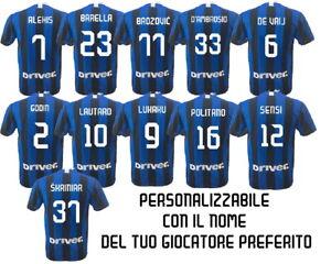 Dettagli su Maglia Inter Replica Ufficiale 20192020 Personalizzabile con Giocatore
