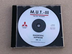 Details zu Mitsubishi M U T  - III Diagnos CD Software Anleitung Ver 1 4  Original MVSA05E1