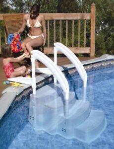 pool einbautreppe leiter schwimmbad treppe leiter einstiegshilfe f r pool ebay. Black Bedroom Furniture Sets. Home Design Ideas