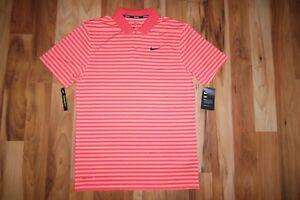 NWT Dri-Fit Nike Men's STRIPED VICTORY DRY GOLD POLO SHIRT 891239 816 Sz S NEW