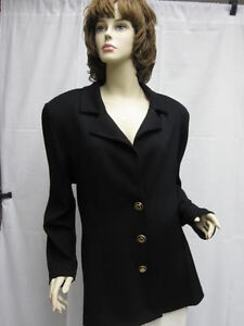 Basics St John Størrelse L Logo Jacket Black 10 vqTwEq