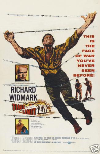 Time limit Richard Widmark vintage movie poster