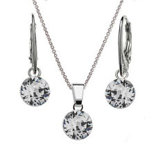 cb580697a1f 925 Sterling Silver Dangle Earrings Necklace Set XIRIUS Crystals from  Swarovski®