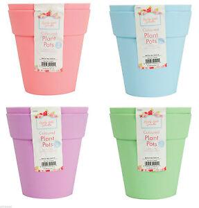 4 x grandi colorate in plastica giardino piante vasi for Vasi in plastica grandi