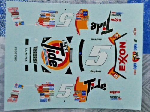 decal 1993 Chevrolet Lumina 5 Ricky Rudd Tide Exxon Nascar 1:43 nascar