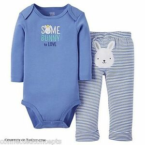 e53c178d3 Easter Carters Somebunny to Love Infant Bodysuit and Pants Outfit (3 ...