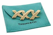Tiffany & Co Paloma Picasso 18K Yellow Gold Three X Pin Retitred