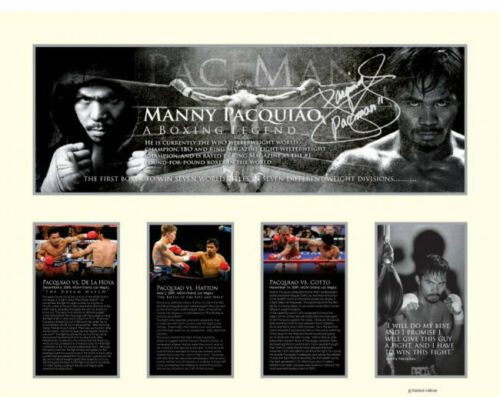 New Manny Pacquiao Signed Limited Edition Memorabilia Framed