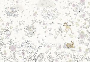 Baby Bedroom Wallpaper Mural Bambi Dalmatians Disney Brown Beige Big Poster Glue Ebay