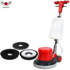 17 Commercial High Speed Floor Washing Machine Burnisher 2 Brushes 1 Pad